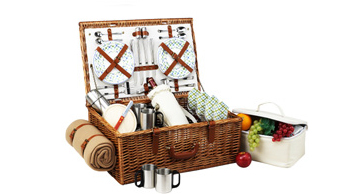 Dorset Basket for 4 w/coffee set & blanket