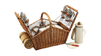 Huntsman Picnic Basket for Four with Blanket