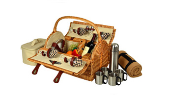 Yorkshire Picnic Bskt for 4 w/Blkt & Coffee